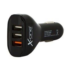Caricabatterie per Auto ONE 3 x USB-A Nero