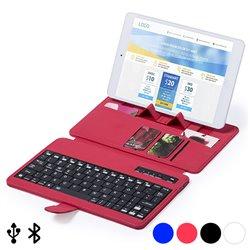 Tastiera Bluetooth con Supporto per Dispositivo Mobile 145739 Nero