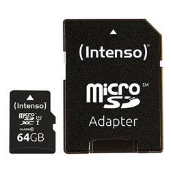 Scheda Di Memoria Micro SD con Adattatore INTENSO 34234 UHS-I XC Premium Nero 64 GB