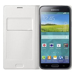 Flip Wallet per Galaxy Core LTE G386F Samsung Bianco