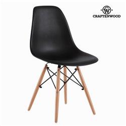 Chaise de Salle à Manger ABS Noir by Craftenwood