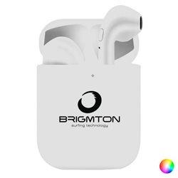 Auricolari Bluetooth con Microfono BRIGMTON BML-18 250 mAh Bianco