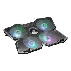 Base di Raffreddamento Gaming per PC Portatile Mars Gaming MNBC3 RGB Nero