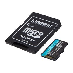 Scheda Di Memoria Micro SD con Adattatore Kingston SDCG3 Nero 128 GB