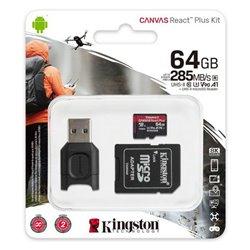 Scheda Di Memoria Micro SD con Adattatore Kingston MLPMR2/64GB 285 MB/s