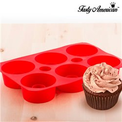 Molde de Silicona para Cupcakes Rellenos Tasty American