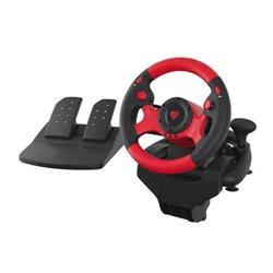 Supporto per Volante e Pedali Gaming Genesis SEABORG 300 PC Rosso
