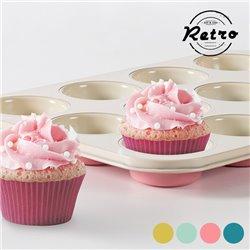 Forma Vintage para Cupcakes Retro Amarelo