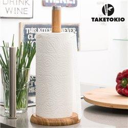 Bamboo Kitchen Roll Holder TakeTokio