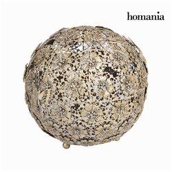 Boule fleur et papillon or vieillie - Collection Art & Metal by Homania