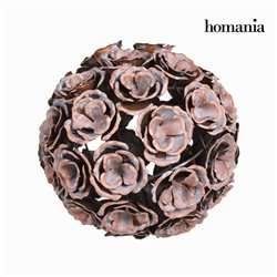Bola metal flor color cobre en - Colección Art & Metal by Homania