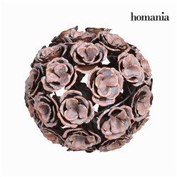 Boule métal fleur couleur cuivre - Collection Art & Metal by Homania