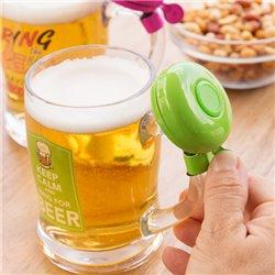 Chope de bière avec sonnette