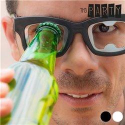 Flaschenöffner Brille Weiß