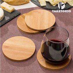 TakeTokio Bambusuntersetzer-Set (4 Stück)