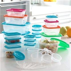 Kunststoffdosen mit Zubehör (31 Teile)