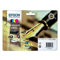 Cartuccia d'inchiostro compatibile Epson T16XL Nero Ciano Magenta Giallo