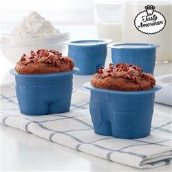 Tasty American Muffinförmchen aus Silikon (4er Pack)