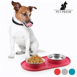 Ciotola Antiscivolo per Animali Pet Prior Rosso