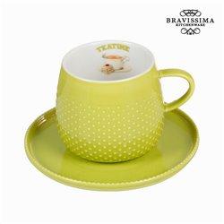 Chávena com prato verde - Kitchen's Deco Coleção by Bravissima Kitchen