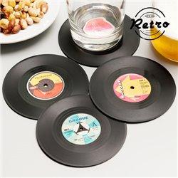 Dessous de Verre Rétro Disques Vinyles (lot de 4)