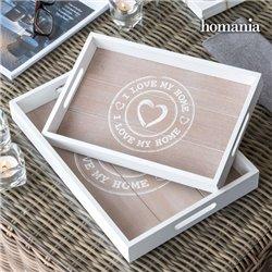 Bandejas I Love My Home by Homania (pack de 2)