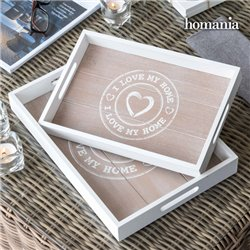 Plateaux I Love My Home by Homania (pack de 2)