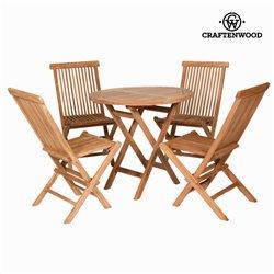Tisch-Set mit 4 Stühlen Craftenwood