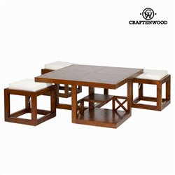 Table Basse Bois mindi (90 x 90 x 45 cm) - Collection Chocolate by Craftenwood