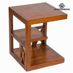 Table de Nuit Bois mindi (45 x 45 x 55 cm) - Collection Chocolate by Craftenwood