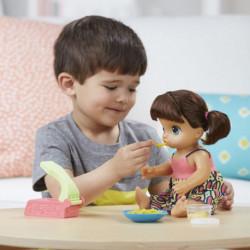 Hasbro Baby Alive Mange des Pâtes (Brune)