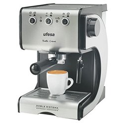 Cafetera Express de Brazo UFESA CE7141 1,5 L 15 bar 1050W Negro Plateado Inox