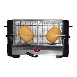 Toaster COMELEC TP-7713/7714 800W Schwarz Rostfreier Stahl