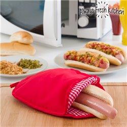 Always Fresh Kitchen Mikrowellen Kochbeutel für Hot Dogs