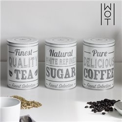 Wagon Trend Metal Kitchen Containers (pack of 3)