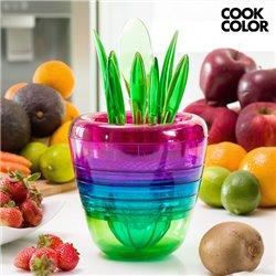 Utensílios de Cozinha Empilháveis Multi Tool Fruit Cook Color