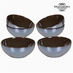 Ensemble de bols Vaisselle Marron (6 pcs) - Collection Kitchen's Deco by Bravissima Kitchen