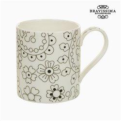 Cup Porzellan Schwarz Beige - Kitchen's Deco Kollektion by Bravissima Kitchen