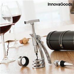 Ensemble d'Accessoires à Vin avec Tire-Bouchon Screwpull InnovaGoods (4 Pièces)