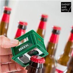 Gadget and Gifts Bierkasten Flaschenöffner mit Magnet