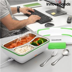 InnovaGoods Pro Electric Lunch Box 50W White Green