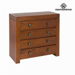 Chest of drawers Mindi wood (95 x 45 x 91 cm) - Nogal Collection by Craftenwood