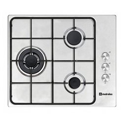 Gas Hob Meireles MG3630X (60 cm) Stainless steel (3 Stoves)
