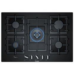 BOSCH Plaque au gaz PPQ7A6B90 11500W 75 cm Noir Verre (5 Cuisinière)