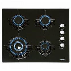 Plaque au gaz Cata CIB6031BK (60 cm) Noir (4 Cuisinière)