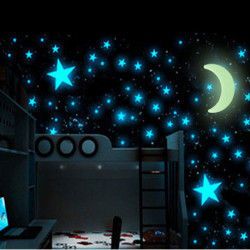 Lune et Étoiles Fluorescentes Universe (15 Pièces)