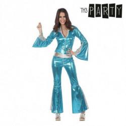 Costume per Adulti Disco Brillante Azzurro XL