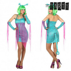 Costume for Adults Sexy alien Blue (4 Pcs) XL