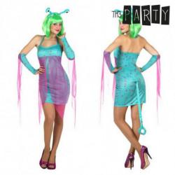 Disfraz para Adultos Alien sexy Azul (4 Pcs) XL