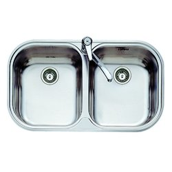 Sink with Two Basins Teka 11107028 STYLO 2C Stainless steel